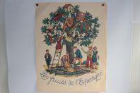 Affiche Lithographie originale Henry MEYLAN Les fruits de l'épargne