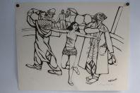 Lithographie originale Henry MEYLAN Cirque