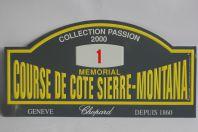 Plaque mémorial Course de côte Sierre-Montana 2000 Chopard