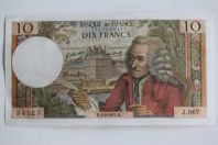 Billet 10 Francs Voltaire type 1963 04-02-1971 Neuf