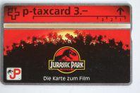 Télécarte L&G dummy p-taxcard film Jurassic Park Suisse 1993