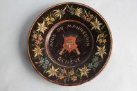 Assiette céramique émaux de Thun Thoune Suisse