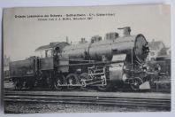 Carte postale ancienne grande Locomotive Gotthardbahn Suisse 1907