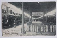 Carte postale ancienne Gare Winterthour Winterthur Bahnhofperron Suisse