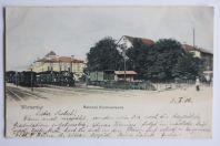 Carte postale ancienne Winterthur Bahnhof Nordwestseite Suisse