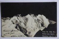 Carte photo montagne Prof Dr. Alb. Heim Relief des Säntis Suisse