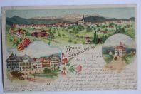 Carte postale ancienne Gruss von Schwellbrunn Appenzell Suisse