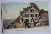 Carte postale ancienne Säntiswirtshaus meteorologische Station Suisse