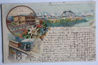 Carte postale ancienne Gruss vom Buenzer-Rothhorn Suisse