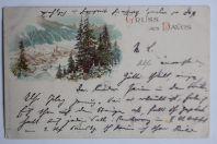 Carte postale ancienne Gruss aus Davos Suisse