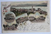 Carte postale ancienne Gruss aus Meilen Suisse
