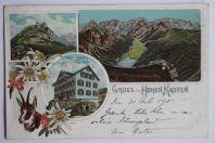 Carte postale ancienne Gruss vom Hohen Kasten Suisse