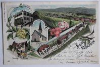 Carte postale ancienne Gruss aus Nieder-Neunforn Suisse