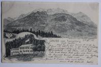 Carte postale ancienne Gruss vom Tannenberg Suisse