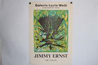 Affiche exposition Jimmy ERNST Galerie Lucie Weill 1973