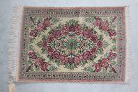 Tapis Ghoum Soie Iran Roses