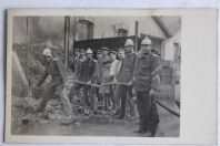 Ancienne carte photo Pompiers