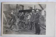Ancienne carte photo Pompiers