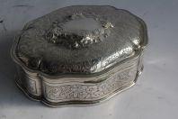 Ancienne boite à bijoux argent massif