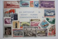 20 Timbres Russie commemoratives 1947-1960