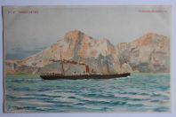 Carte postale ancienne Cie Gle Transatlantique Barcelone