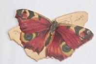 Ancien calendrier chromo Papillon