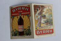 Calendrier publicitaire BYRRH Maison J&S Violet à Thuir 1924