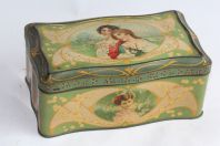 Boîte tôle lithographiée Femmes Art nouveau