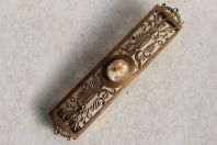 Ancienne broche fibule camée pomponne XIXe siècle