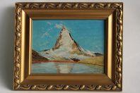 Tableau J.J. WOHLICH peinture Cervin Montagne 1944