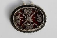 Ancien pendentif oriental argent verre