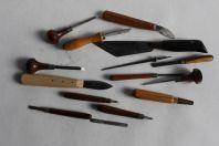 Anciens outils Bourrelier travail du cuir