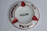 Cendrier publicitaire PICON Pikina Curaçao porcelaine