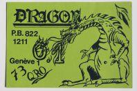 Carte postale QSL Radio Amateur Suisse Dragons Genève