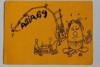 Carte postale QSL Radio Amateur Suisse Asia 69