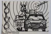 Carte postale QSL Radio Amateur Suisse Volvo 68