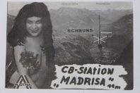 Carte postale QSL Radio Amateur Suisse Madrisa