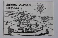 Carte postale QSL Radio Amateur Suisse Sierra-Alpha Saga 69