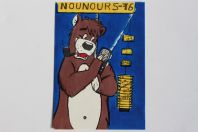 Carte postale QSL Radio Amateur Suisse Nounours 76