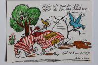 Carte postale QSL Radio Amateur Alsace Banane 68
