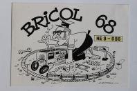 Carte postale QSL Radio Amateur Suisse Bricol 68