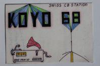 Carte postale QSL Radio Amateur Suisse Koyo 68