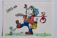 Carte postale QSL Radio Amateur Suisse Iris 68