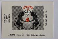 Carte postale QSL Radio Amateur Suisse Lucifer 68