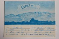 Carte postale QSL Radio Amateur Suisse Comet 68