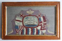 Broderie de marin Empire britannique XIXe siècle