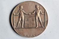 Médaille Centenaire de l'association de tir Aarau 1824-1924 Suisse
