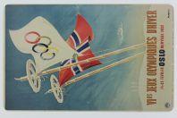 Carte magnétique Musée Olympique Lausanne JO d'hiver Oslo 1952