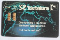 Télécarte à puce Allemagne Grenzenlos 1989