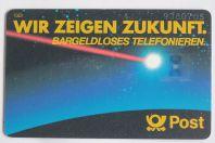Télécarte à puce Allemagne Wir zeigen Zukunft 1986